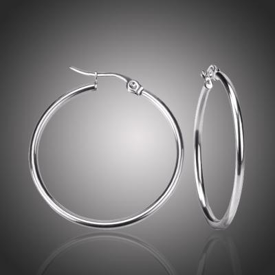 Ocelové náušnice Noema - kruhy, chirurgická ocel, průměr 4 cm