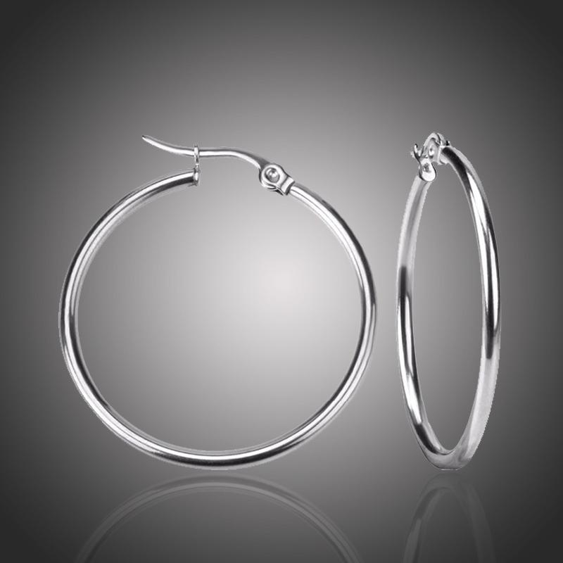 Ocelové náušnice Noema - kruhy, chirurgická ocel, průměr 6 cm a 4 cm