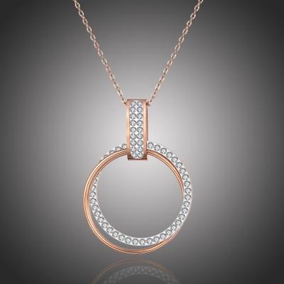 Ocelový náhrdelník se zirkony Luana Gold