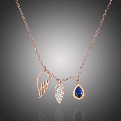 Ocelový náhrdelník Swarovski Elements Manuel - chirurgická ocel