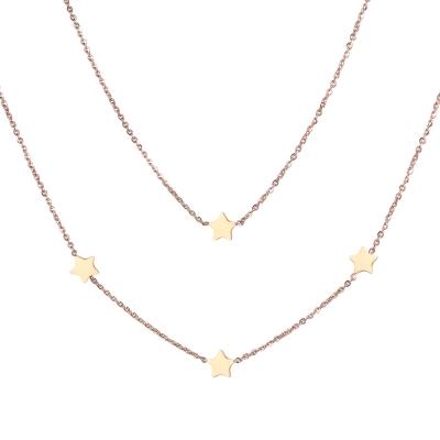 Dvojitý ocelový náhrdelník Dolores - hvězdy, chirurgická ocel