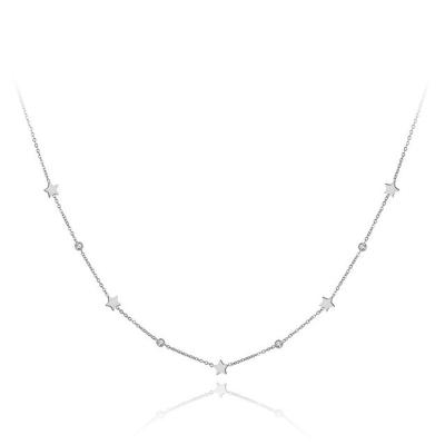 Ocelový náhrdelník se zirkony Susan - hvězdy, chirurgická ocel