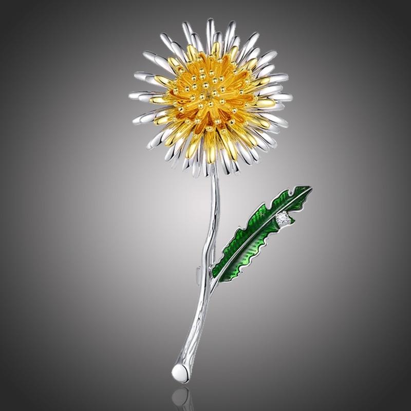 Brož Saskia se zirkonem - květina