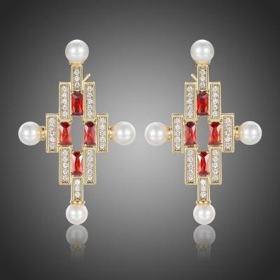 Exkluzivní bohatě zdobené náušnice Swarovski Elements Constantin