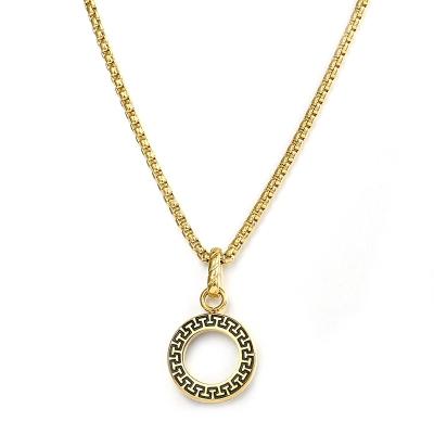 Pánský náhrdelník Francoa Gold - ocelový přívěsek