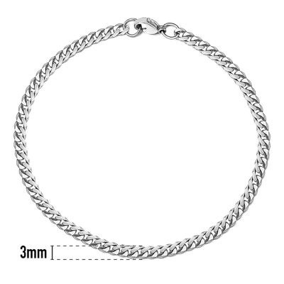 Pánský ocelový náramek Daniel 3 mm - chirurgická ocel