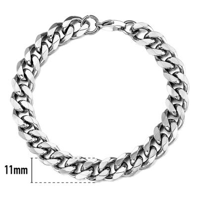 Pánský ocelový náramek Daniel 11 mm - chirurgická ocel