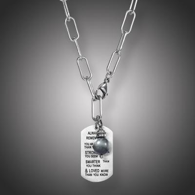 Pánský ocelový náhrdelník Xavier - chirurgická ocel, vojenská známka