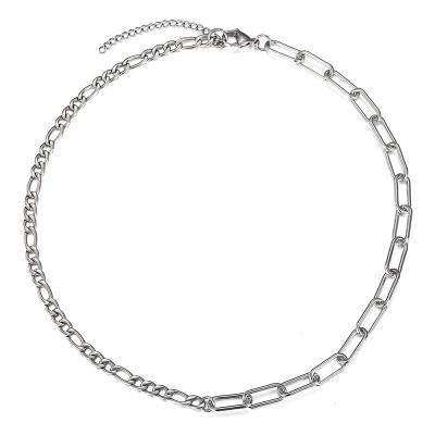 Pánský ocelový náhrdelník David - chirurgická ocel, figaro