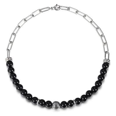Ocelový choker náhrdelník Bernard - chirurgická ocel