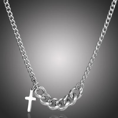 Ocelový náhrdelník Sebastian - chirurgická ocel, kříž