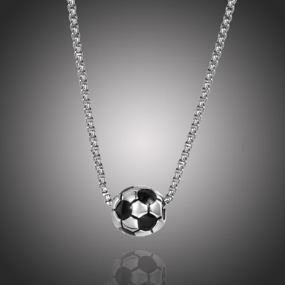 Ocelový náhrdelník fotbalový míč - chirugická ocel