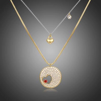 Dvojitý náhrdelník Swarovski Elements Julien - srdce