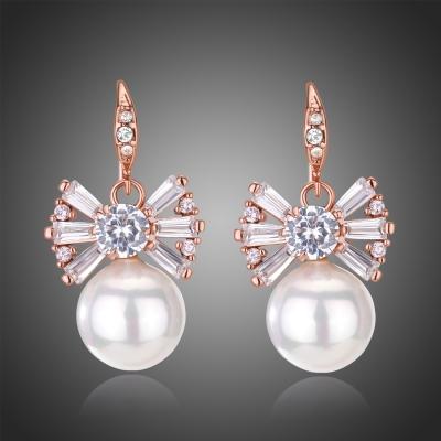 Náušnice s perlou a zirkony Anna