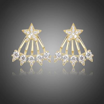 Náušnice Swarovski Elements Stella Gold - hvězda