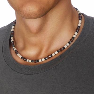 Pánský korálkový náhrdelník Sebastien 46 cm