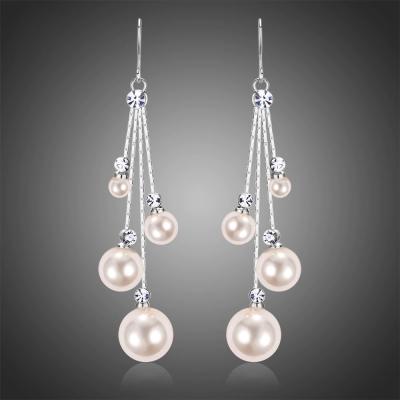 Náušnice s perlou a zirkony Sigara Bianca