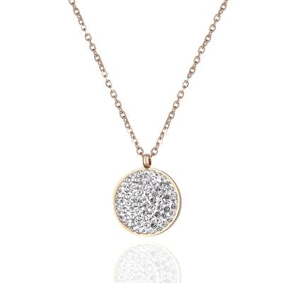 Ocelový náhrdelník se zirkony Melissa Gold - chirurgická ocel
