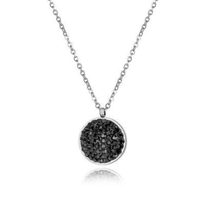 Ocelový náhrdelník se zirkony Melissa Black - chirurgická ocel