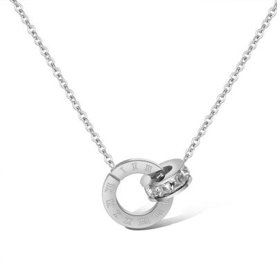 Ocelový náhrdelník se zirkony Alison - chirurgická ocel