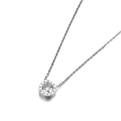Ocelový náhrdelník se zirkony Virginia - chirurgická ocel