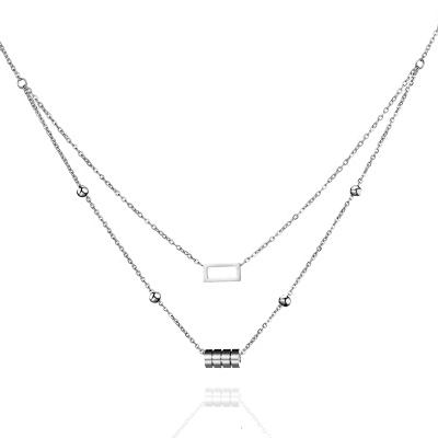 Dvojitý ocelový náhrdelník Alain - chirurgická ocel
