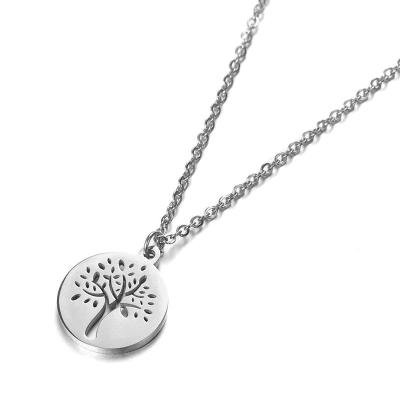 Ocelový náhrdelník Dominik - chirurgická ocel, strom života