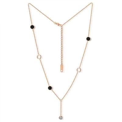 Ocelový náhrdelník se zirkony Lucia - chirurgická ocel