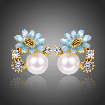 Náušnice Swarovski Elements s perlou Bandia