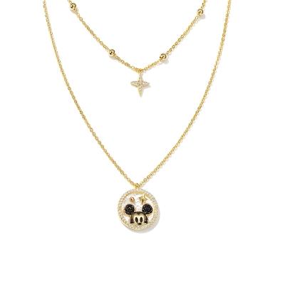 Exkluzivní náhrdelník Swarovski Elements Disney Micky Mouse 4