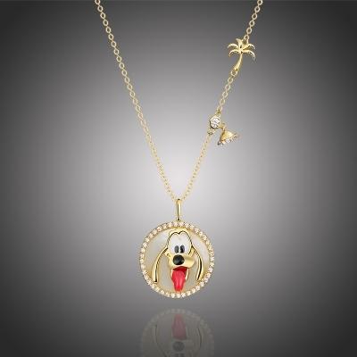 Exkluzivní náhrdelník Swarovski Elements Disney pes Pluto 1