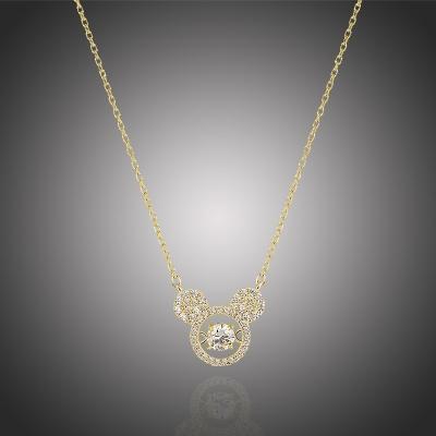 Elegantní náhrdelník Swarovski Elements Disney Mickey Mouse