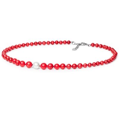 Luxusní korálový náhrdelník Matea s perlou