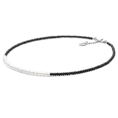 Náhrdelník Eduarda - sladkovodní perla, černý Spinel