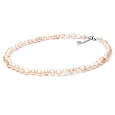 Perlový náhrdelník Rafaela - barokní růžová sladkovodní perla
