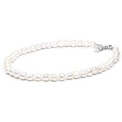 Perlový náhrdelník Ramóna - barokní bílá sladkovodní perla