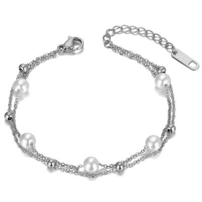 Perlový náramek Juanito - chirurgická ocel