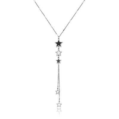 Ocelový náhrdelník Marica - chirurgická ocel, hvězdy