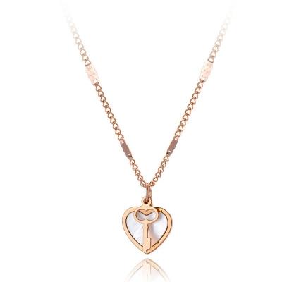Ocelový náhrdelník Valentina - chirurgická ocel, srdce