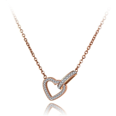 Ocelový náhrdelník Thomasa - chirurgická ocel, srdce