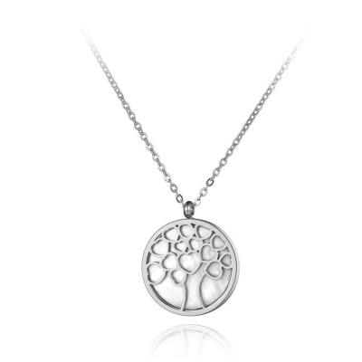 Ocelový náhrdelník Lucia - chirurgická ocel, strom života