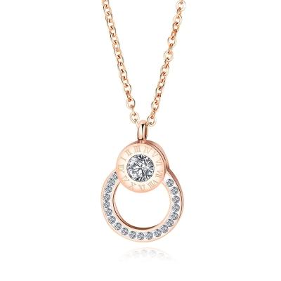 Ocelový náhrdelník se zirkony Andréa - chirurgická ocel