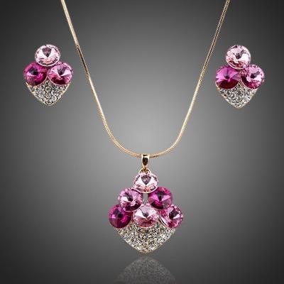Souprava náhrdelníku a náušnic Swarovski Elements  Jeanne