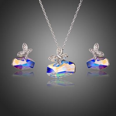 Souprava náhrdelníku a náušnic Swarovski Elements Monica - motýl