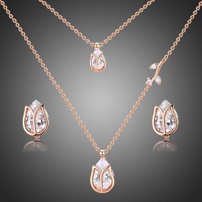 Souprava náhrdelníku a náušnic Swarovski Elements Jacinta - květina