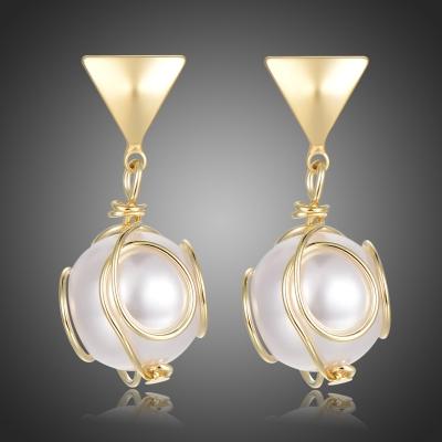 Pozlacené náušnice s perlou Marghesi