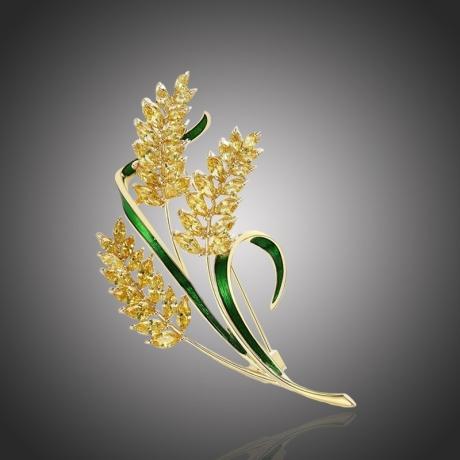 Exkluzivní brož Swarovski Elements  Egidia - design ječmen