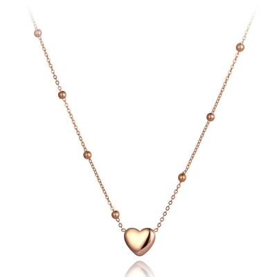 Ocelový náhrdelník Alejandra Gold - chirurgická ocel, srdce