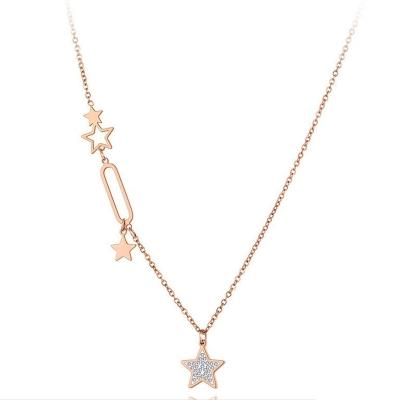 Ocelový náhrdelník Charley - chirurgická ocel, hvězda