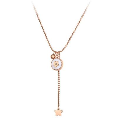 Ocelový náhrdelník Becca - chirurgická ocel, hvězda